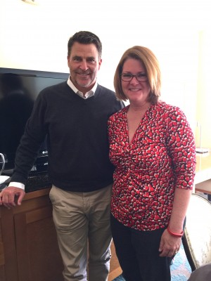 """Ted McGinley of """"Do You Believe?"""" with Lisa Hendey"""