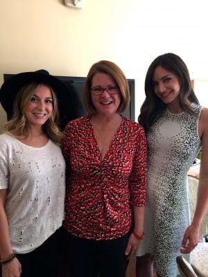 "Alexa Penavega and Valerie Dominguez of ""Do You Believe?"" with Lisa Hendey"