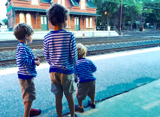 Photo Credit: @jamesgraysonhicks; used with permission. My little grandsons waiting for the train to see Pope Francis.