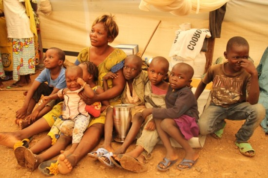 Nathalie Balakadja and her seven children have lived in a displacement camp in Bangui for more than four months. With ongoing violence in CAR, they're still too afraid to return to their homes.