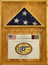 A plaque we were sent from thankful troops in Afghanistan.