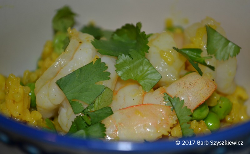 """Meatless Friday: Indian Curry Rice with Shrimp and Peas"" by Barb Szyszkiewicz (CatholicMom.com)"