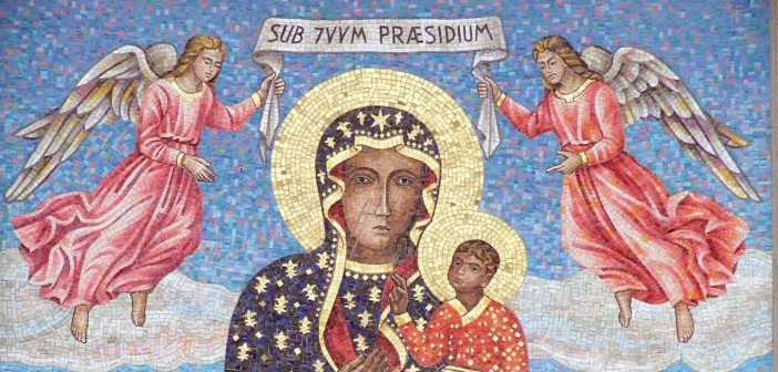 """""""Jasna Góra - mosaic 01-removed from the wall"""" by Fabiano FavretPhoto by YarlRecropped (wall background taken off) by Channer - Own work. Licensed under CC BY-SA 3.0 via Wikimedia Commons."""