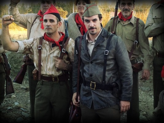 Jacobo Muñoz poses as the leader of the local militant uprising. Image courtesy of Little Flower Fund, used with permission.