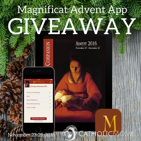 Does your Advent need something special? Enter to win one of the 2016 Advent Companion apps we have from Magnificat!