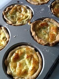 Meatless Friday shrimp quiche