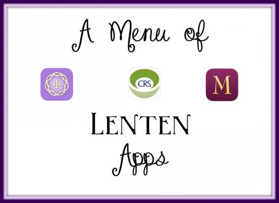 Menu of Lenten Apps