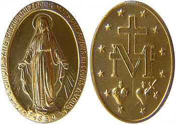 Image credit: Xhienne, Wikimedia Commons, http://commons.wikimedia.org/wiki/File:Miraculous_medal.jpg