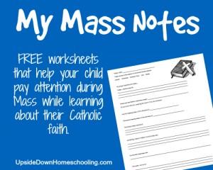 My Mass Notes