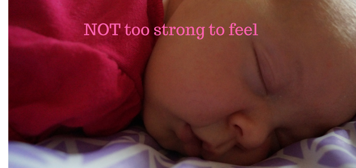"""""""NOT Too Strong to Feel"""" by Janele Hoerner (CatholicMom.com)"""