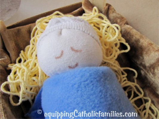 No Mess Straw for Sock Baby Jesus