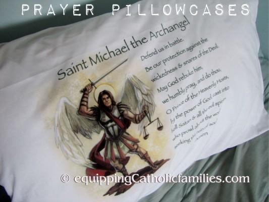 Prayer Pillowcases St Michael
