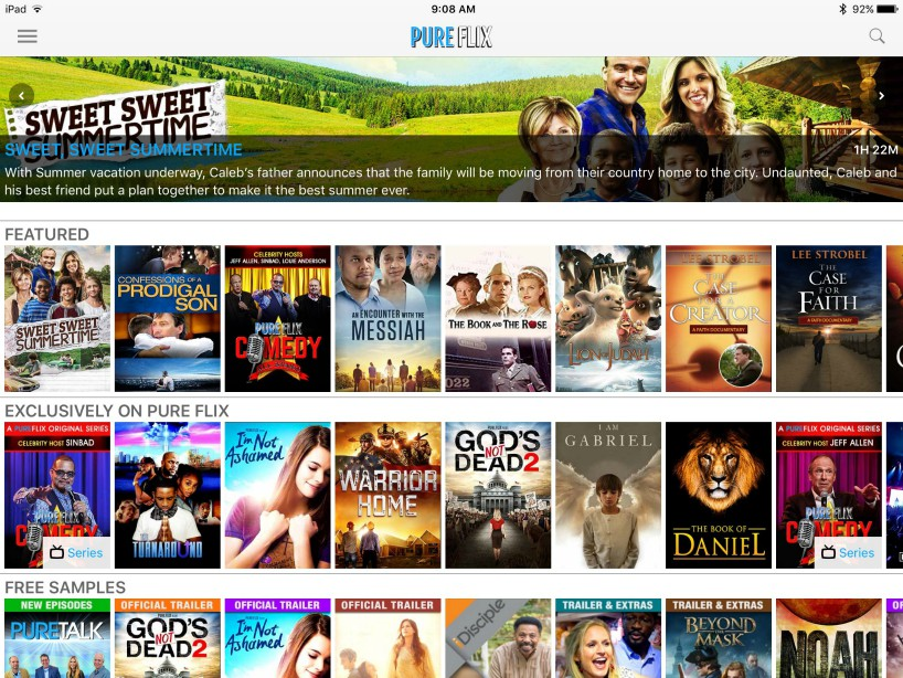 """Tech Talk Review: PureFlix Streaming"" by Christine Johnson (CatholicMom.com)"