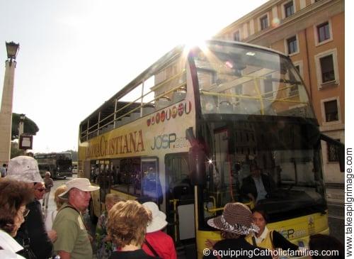Roma Cristiana bus