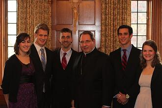 SPONJ Staff & Missionaries with Archbishop Myers