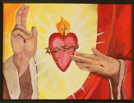 Image: Sacred Heart of Jesus, Trevor Gundlach. Used with permission of the artist.