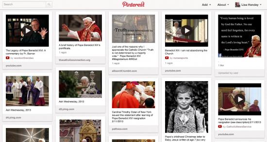 Pope Benedict XVI - Click to Follow