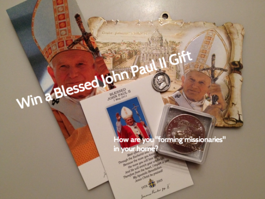 """Share your ideas for """"Forming Missionaries"""" and enter to win our Blessed John Paul II package!"""