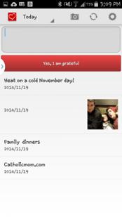 Attitudes of Gratitude Android App Screenshot