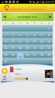 Moments of Gratitude Android App Screenshot