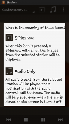 Android screenshot of App Features