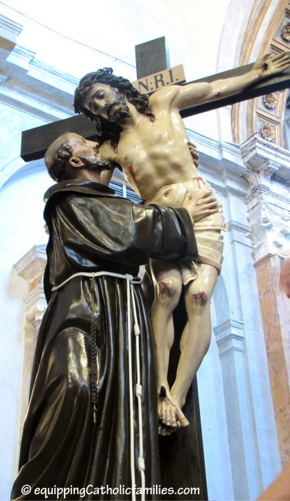 St Francis and Jesus