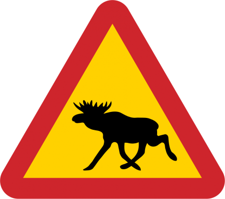 Swedish road sign from the Swedish Transport Agency, from WikimediaCommons (PD).