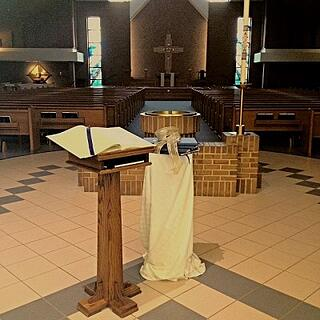The Remembering:  A Book of Remembrance placed in our church for the month of November