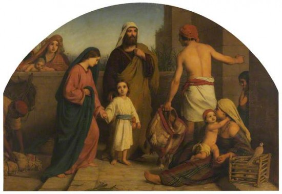 The Holy Family Returned from Egypt. The artist is William Charles Thomas Dobson.