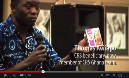 Thomas Awaiapo, Catholic Relief Services beneficiary, now member of CRS Ghana.