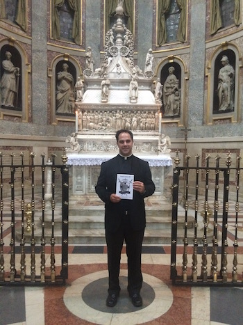 Fr. Calloway at the tomb of St. Dominic. Images Copyright Fr. Donald H. Calloway, MIC, used with permission