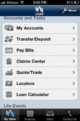 USAA-app