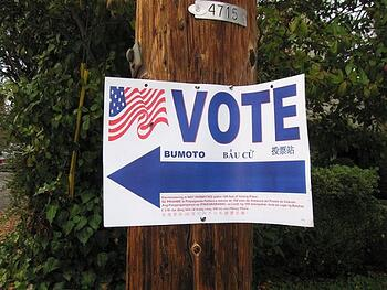 Vote signage