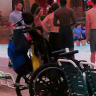 Wheel Chair in the Waterpark