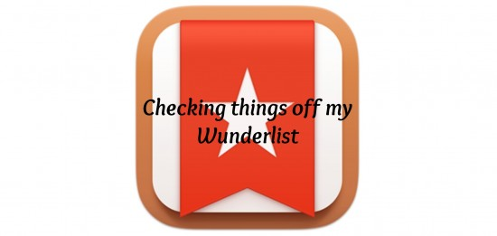 """Checking things off my Wunderlist"" Copyright 2015 Barb Szyszkiewicz. All rights reserved."