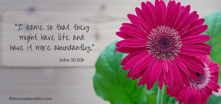 """Live in Abundance"" by Deanna Bartalini for CatholicMom.com"