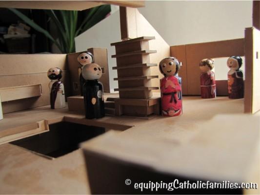 architecture school model for painted saints