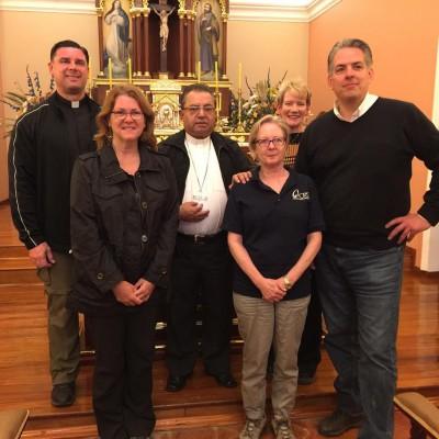 Our CRS Media Team with Bishop Enrique (Julio Enrique Prado Bolaños) of the Diocese of Pasto