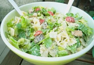 caesar bowtie salad by barbara stein