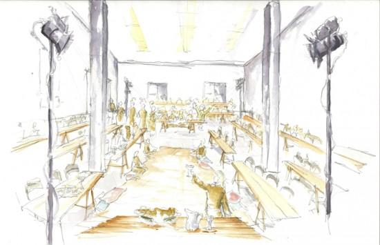 Rendering of the Cana Dinner Theater