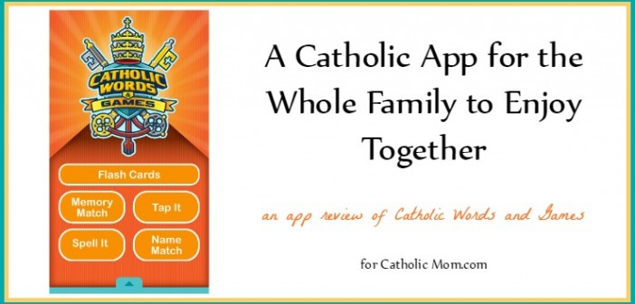 Catholic Words and Games app review