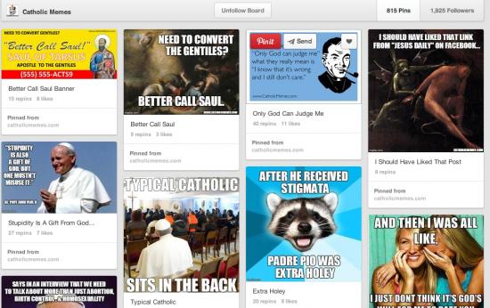 catholic memes pinterest screen