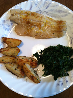 Fish Fillets with Lime and Garlic Roasted Potatoes
