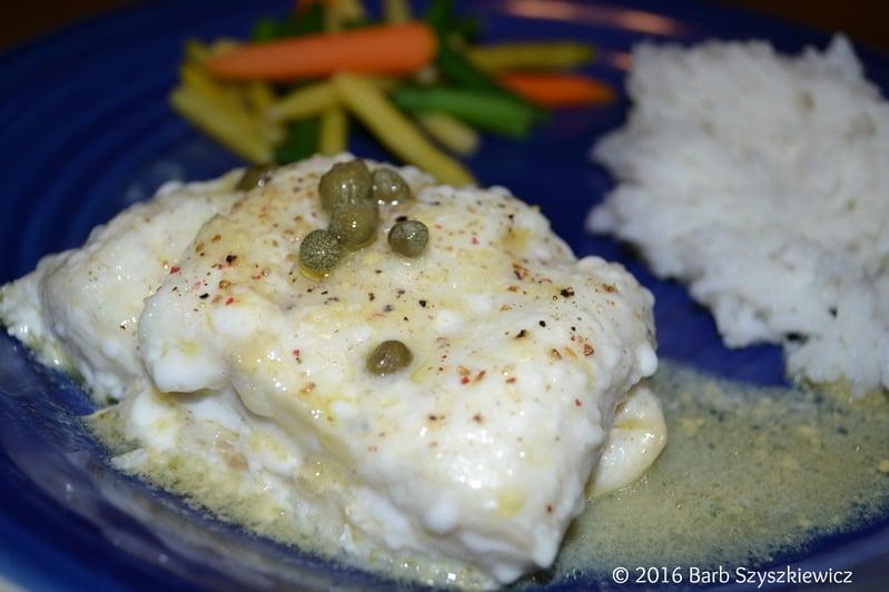 """""""Meatless Friday: Cod with Caper Sauce"""" by Barb Szyszkiewicz (CatholicMom.com)"""