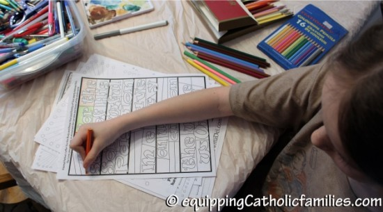 coloring a craft kit