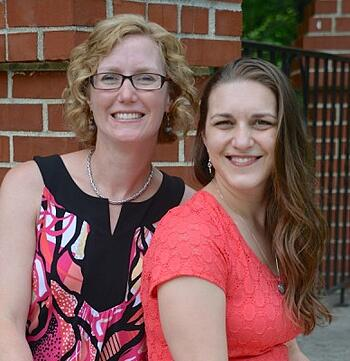Emily Jaminet and Michele Faehnle of Divine Mercy for Moms