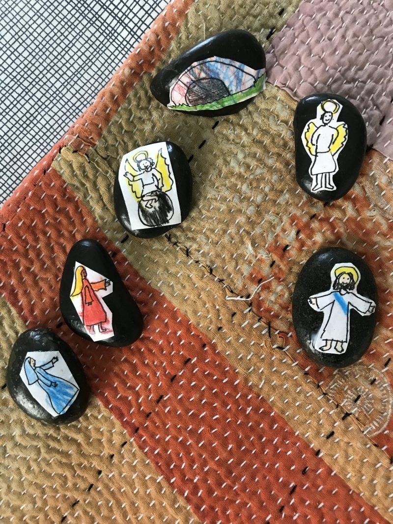 """Telling the Easter Story with Resurrection Story Stones"" by Abbey Dupuy (CatholicMom.com)"