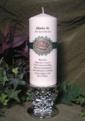 first communion gift candle