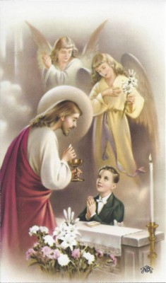 first communion gift holy card personlaized