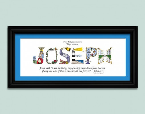first communion gift name art